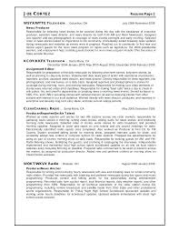 Tv Executive Producer Resume Related Post Toyindustry Info