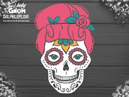For an svg file, like this it's all about the pie design from so fontsy, each color will be imported into a cut file as a different layer. Woman Sugar Skull Svg Girl Sugar Skull Graphic By Babygnom Creative Fabrica