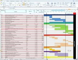 Creating A Gantt Chart In Excel 2010 Igrarium Club