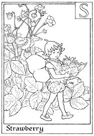 Small Picture Letter S For Strawberry Flower Fairy Coloring Page Alphabet