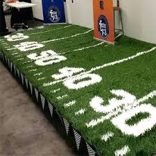 football field rugby size rug baseball table runner throw large area lovable phoenix amusements football field rug