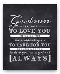 Amazon Godson Gift From Godparents Godson Quote Sign Perfect Custom Godparents Love Quote In English