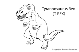 Small Picture Dinosaur Facts tyrannosaurus rex dinosaur coloring page