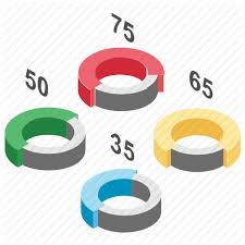 Modern Pie Chart Graphs And Charts By Vectors Market