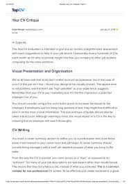 I would not hire top resume. Review Your Cv Critique Top Cv