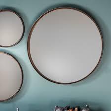 round mirror with black metal frame large round mirror silver