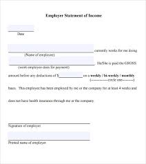 6 Income Verification Letters Sample Templates