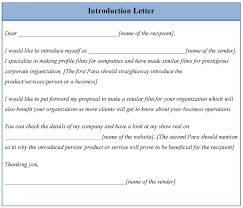 Letter Of Introduction Template Best Business Template