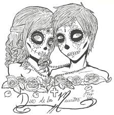 Free Printable Day Dead Coloring Pages Outstanding Girl Sugar Skull
