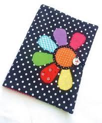 flower applique book cover fabric book cover fabric notebook