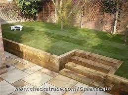 sloped garden backyard landscaping