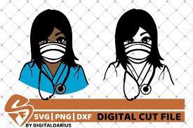 Free svg files for cricut design space, sure cuts a lot and silhouette studio designer edition. 2x Black Nurse Bundle Svg Mask Svg Stethoscope Melanin 551523 Cut Files Design Bundles
