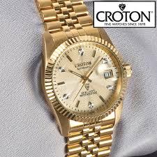 heartland america croton mens 6 diamond automatic watch croton mens 6 diamond automatic watch