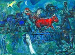 rarely seen marc chagall paintings go on show for first time