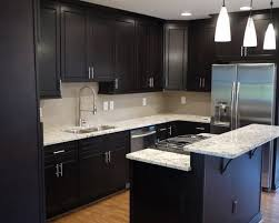 kitchen design ideas dark cabinets elegant modern small with nice pendant lamp and inside 13