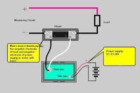 ammeter shunt wiring diagram wire diagram Alternator Shunt Wiring ammeter shunt wiring diagram elegant digital ammeter dc 100a 12v 24v with green led display ampere