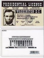 President Drivers Washington Abraham Lincoln License Dc 1HCABqZ5