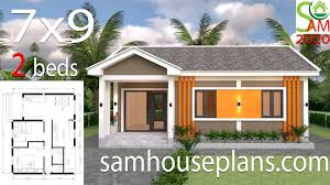 Architectural Designs For Small Houses Small House Plans 9x7 With 2 Bedrooms Gable Roof Sam House Plans