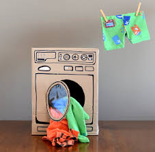 diy cardboard washing machine