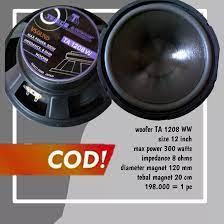 VSOUND // Speaker Woofer 12 Inch TA 1208 W / /Speker Wofer 12 Inci 300  Watts // Spiker Wufer 12 Inchi // Sepiker Wufer 12 In Mid Bass Bisa  COD/Bayar di Tempat