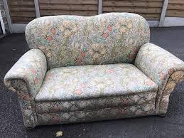 small william morris fabric antique two seater sofa