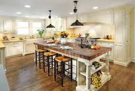 white country kitchen with butcher block. Modren Country Kitchen Island With Bucther Block Countertop Used Like Table For White Country With Butcher Block E