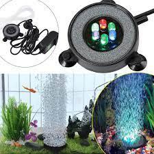 Đèn LED Đổi Màu Chống Nước Bể Cá Tròn Cá Bubbler Trang Trí Đèn Ánh Sáng Này  Là Lý Tưởng Cho Hồ Cá, cá Bể|Chiếu Sáng