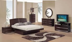 Modern Bedroom Sets For Dark Mahogany Semi Gloss Finish Modern Bedroom Set W Storage