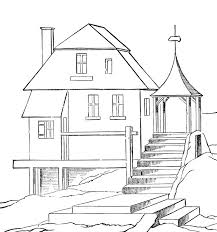 Small Picture House Coloring Pages in House Coloring Pages Coloring Page Blog