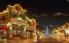 christmas town wallpaper. Brilliant Christmas Decorated Town At Christmas Throughout Town Wallpaper M