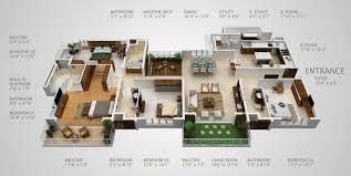Marvelous ... 4 Bedroom Luxury Apartment Floor Plans Beautiful 4 Bedroom Apartment  House Plans ...
