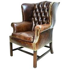 tufted leather wingback chair chair contemporary black leather tufted wingback chair