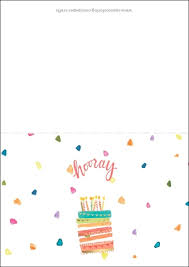 Happy Birthday Card Printable Template Cute Happy Birthday Card Free Printable Papercraft Templates