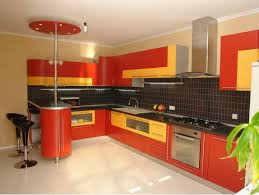 Red And Yellow Kitchen Decorating