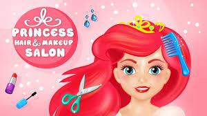 princess hair makeup salon gameplay app android apk