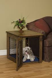 view in gallery beautiful wood dog crate that can be used as a side table