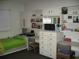 dorm room designs for guys. white dorm guys room design idea present wall storage unit over desk and double dressers on designs for