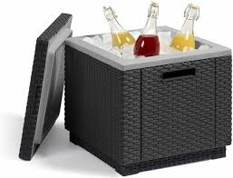 ice cooler table keter rattan storage