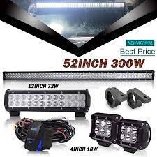Dot Approved Led Lights Amazon Com Dot 52inch Led Light Bar 12inch Led Light Bar