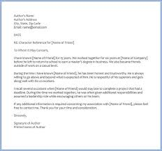 Thank You Letter Reference 6 Best Character Reference Letter Samples Written For