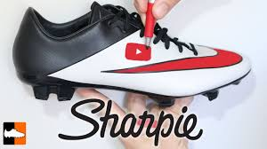 Design Your Cleats How To Customise Your Boots With A Sharpie Soccer Cleat Customisation