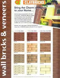 claybricks wall brick veneer natural look burnt clay