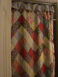 An old quilt that I used for a shower curtain.... | Homemades ... & An old quilt used for a shower curtain. Adamdwight.com