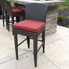 Amazoncom Conrad Patio Furniture Outdoor Wicker Bar Stools Set Outdoor Wicker Bar Furniture