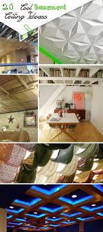 cool basement. Cool Basement Ceiling Ideas! E