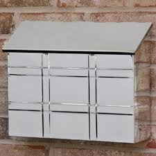 grid wall mount mailbox polished stainless steel