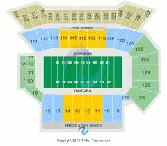 Oregon State Football Seating Chart 53 Competent Reser Stadium Interactive Seating Chart