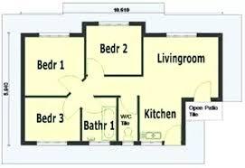 3 Bedroom Open Floor House Plans Creative Design Unique Design