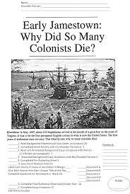 a jamestown dbq history matters