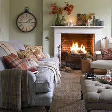 simple country living room. Simple Country Classic Living Room Decorating Ideas Completed With Fireplace And Clock